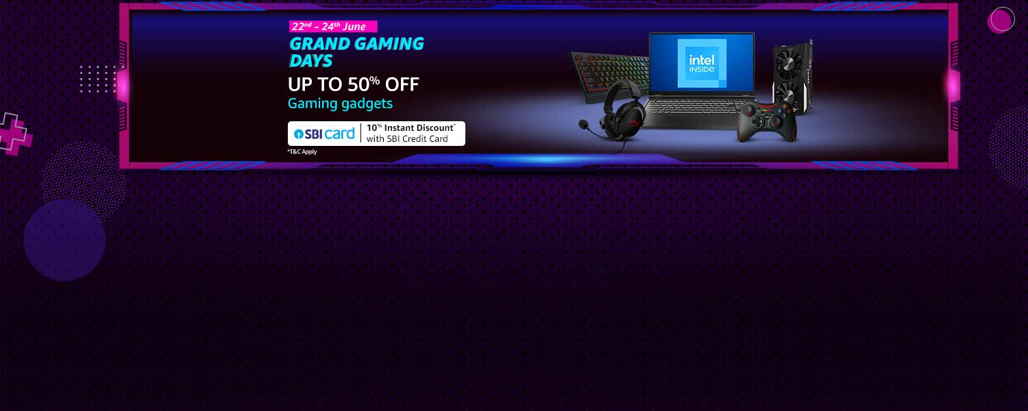 amazon.in - Upto 50% off on Gaming Gadgets