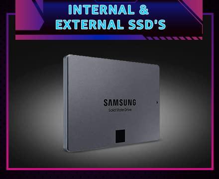 Internal and external SSd's