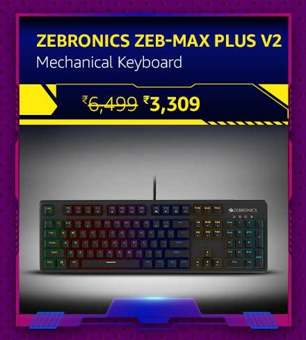 ZEBRONICS Zeb-MAX Plus V2 Mechanical Keyboard