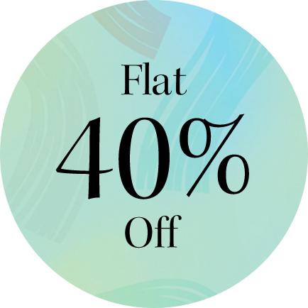Flat 40% off