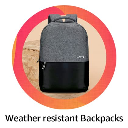 Water resistant backpacks