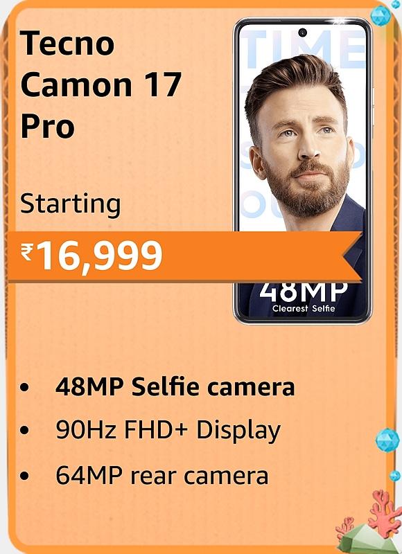 Amazon prime Day 2021 offer on tecno camon 17 pro
