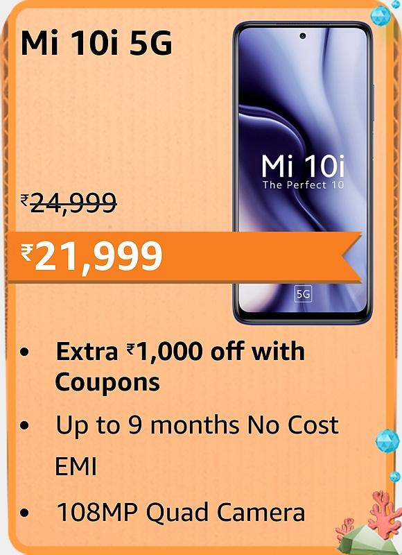 Amazon prime Day 2021 offer on Mi 10i 5G