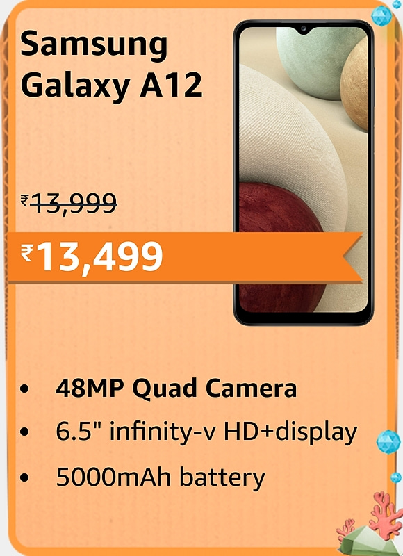 Amazon prime Day 2021 offer on Samsung Galaxy A12