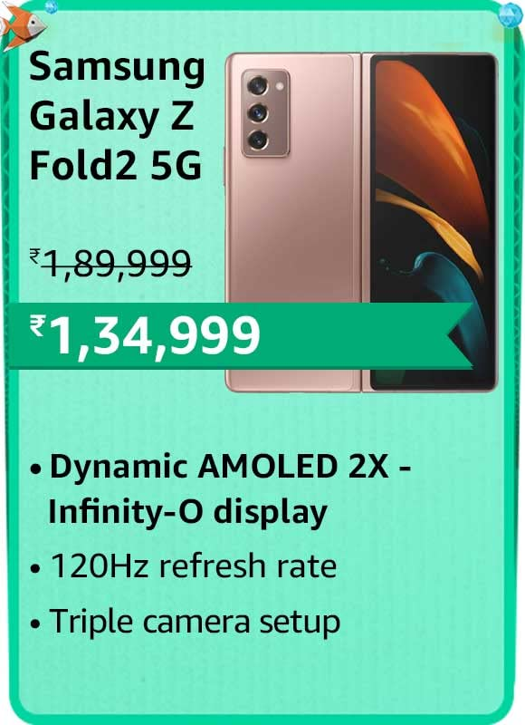 Amazon prime Day 2021 offer on Samsung Galaxy Z Fold2 5G