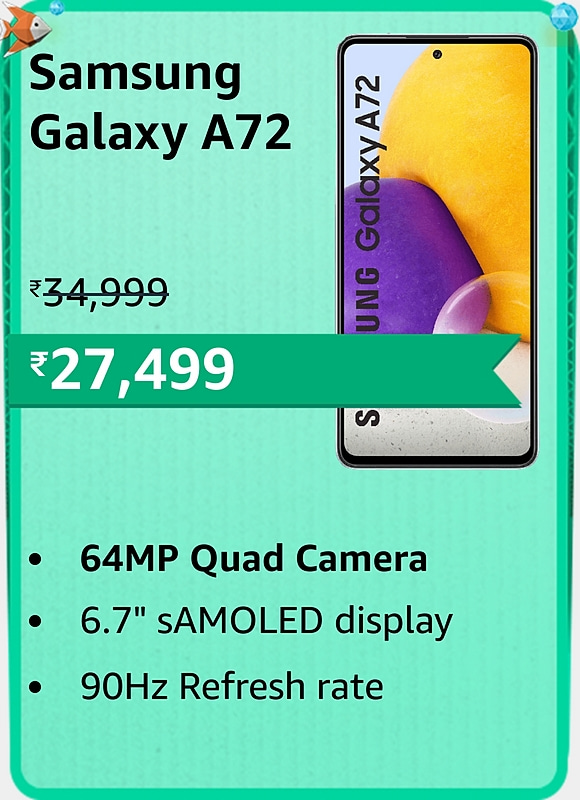 Amazon prime Day 2021 offer on Samsung Galaxy A72