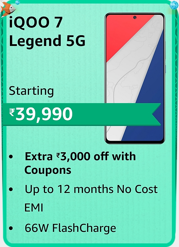 Amazon prime Day 2021 offer on iQOO 7 Legend 5G