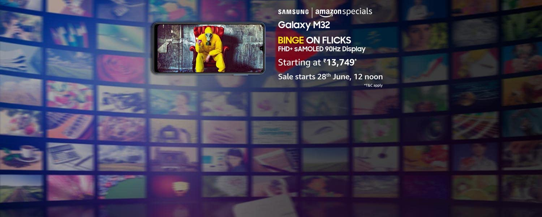 amazon.in - Get Upto ₹1250 OFF on Samsung Galaxy M32