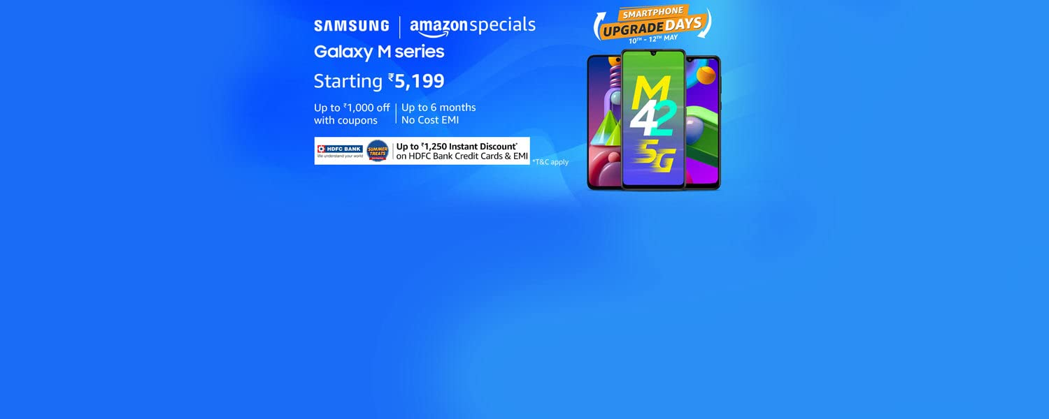Amazon Offers Today-Coupons-Promo Codes - Samsung Smartphones starting at just ₹6199
