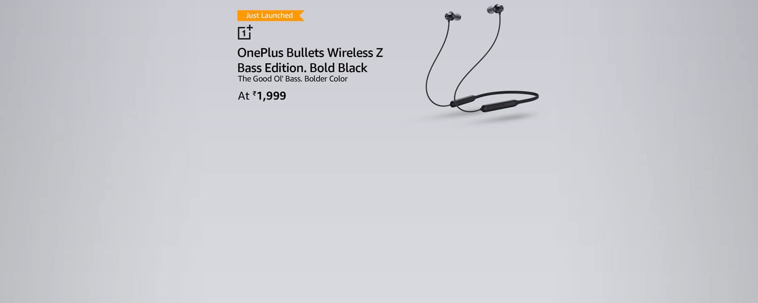 Amazon Offers Today-Coupons-Promo Codes - OnePlus Bullets Wireless Z Bass Edition @ just ₹1999