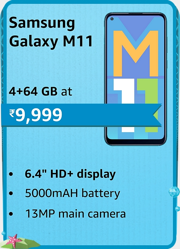 Amazon prime Day 2021 offer on Samsung Galaxy M11