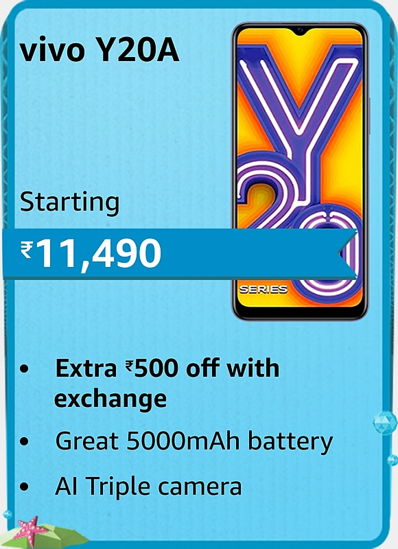 Amazon prime Day 2021 offer on Vivo Y20A