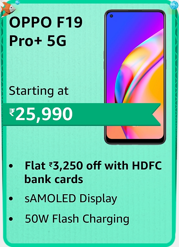 Amazon prime Day 2021 offer on Oppo F19 Pro+ 5G