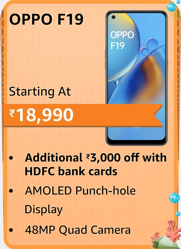 Amazon prime Day 2021 offer on Oppo F19
