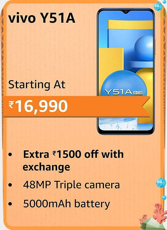 Amazon prime Day 2021 offer on Vivo Y51A
