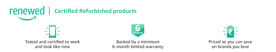 Certified Refurbished products on Amazon Renewed