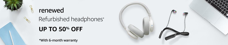 Refurbished Headphones on Amazon Renewed