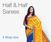 Half and Half Sarees
