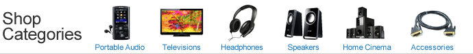 Shop for televisions, headphones, speakers, home theater systems, mp3 players, ipods