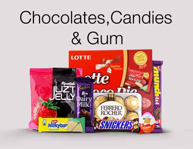 Chocolates, Candies & Gum