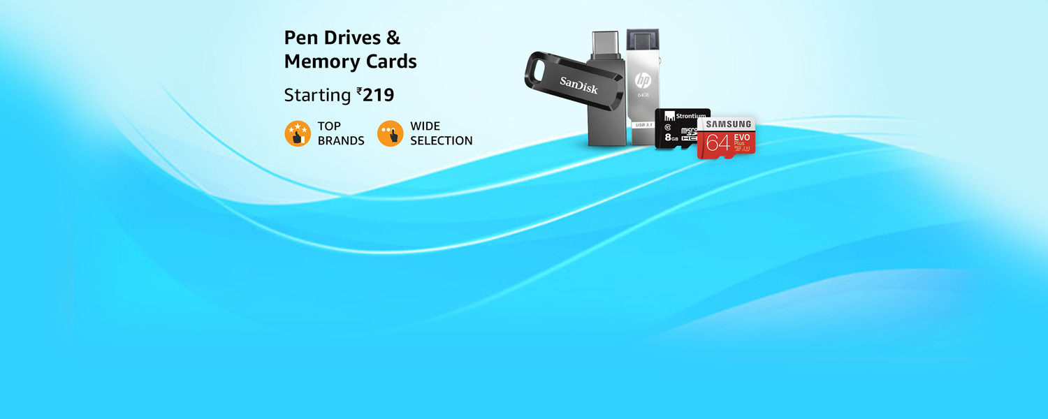 amazon.in - Pen Drives and Memory Cards starting at just ₹219