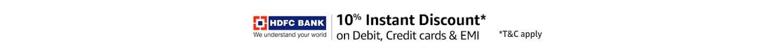 10% Instant Discount | HDFC Bank Debit, Credit cards & EMI