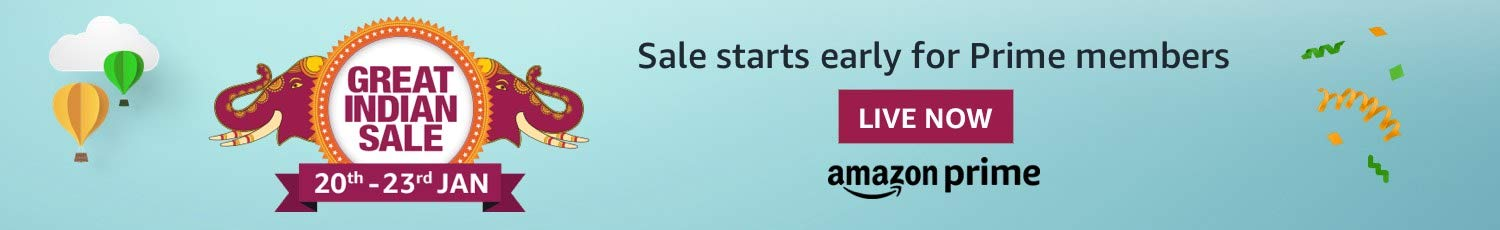 Sale starts early for Prime | 12 Noon, Jan 19th