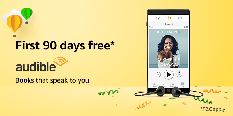 Audible | 90-day Free Trial for Prime
