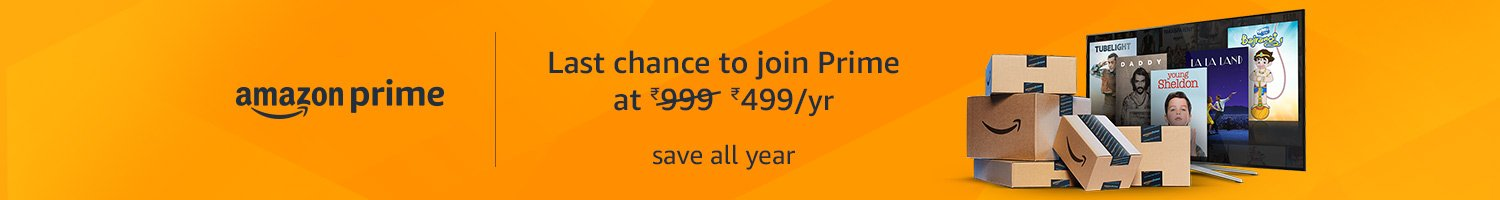 Last chance to Join Prime at 499
