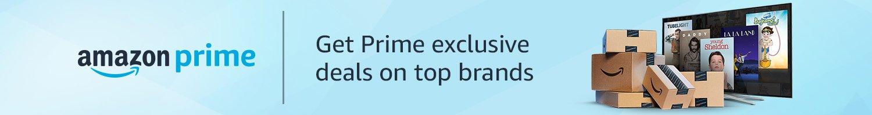 Get Prime exclusive deals on top brands