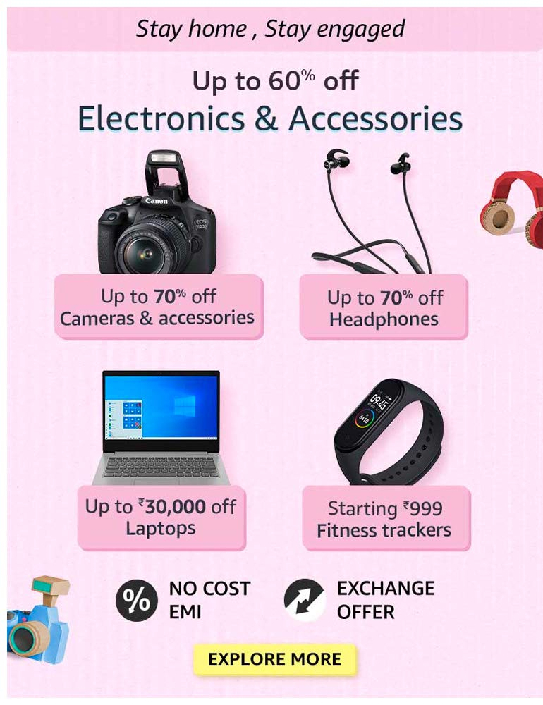 Up to 60% OFF Electronics & Accessories