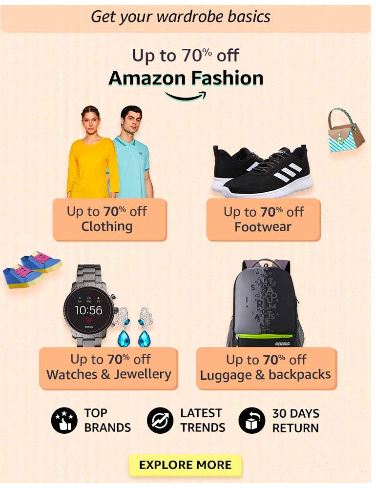 Amazon Fashion - Up to 70% OFF