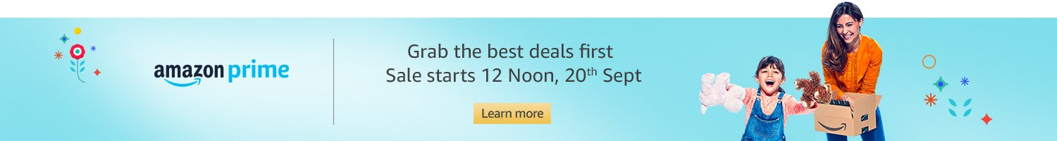 Grab the best deals first with Prime
