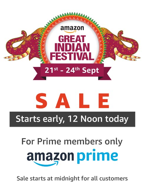 Sale starts 12 Noon for Prime members