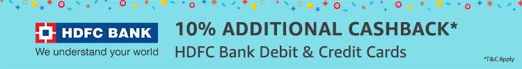 HDFC 10% additional cashback
