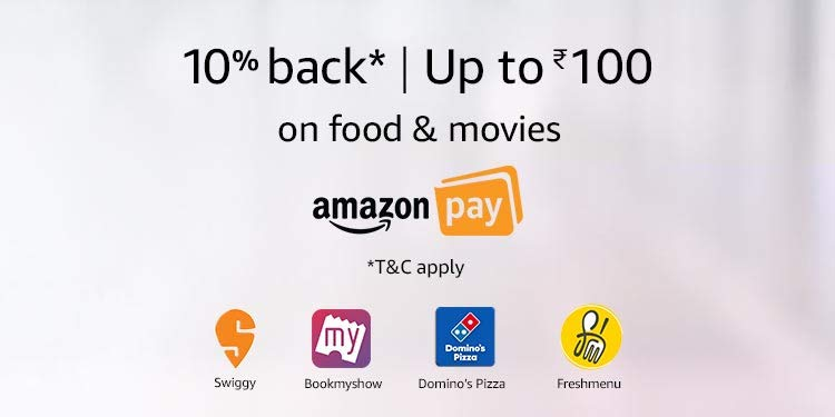 Up to Rs 400 off on Food & Movies