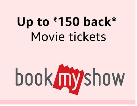 Up to Rs. 150 back on movies from Bookmyshow