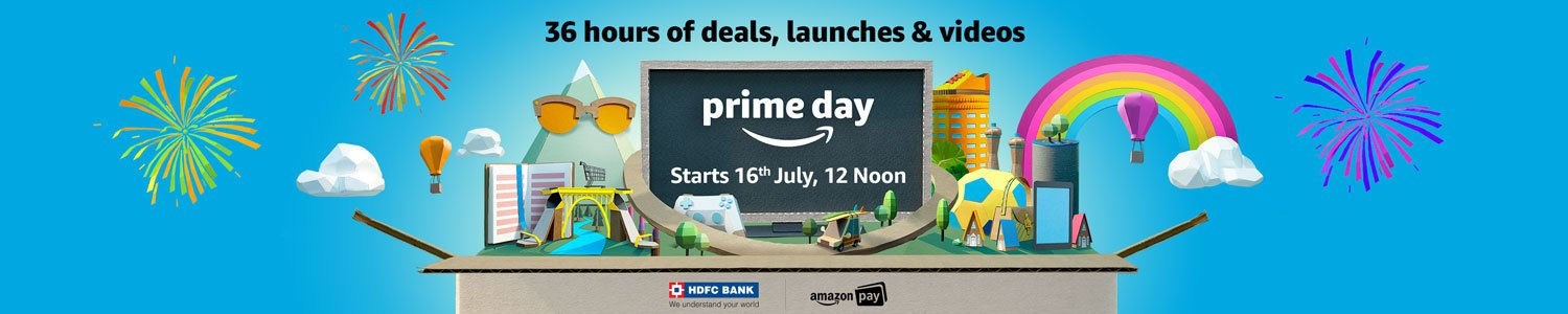 Prime day starts 16th July, 12 Noon- 35 hours of deals, launches and videos