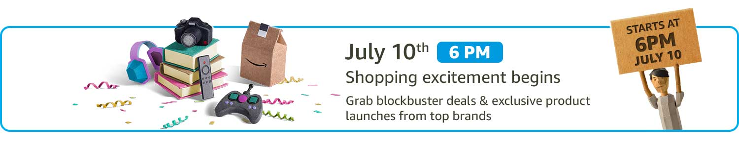 July 10th- Shopping excitement begins