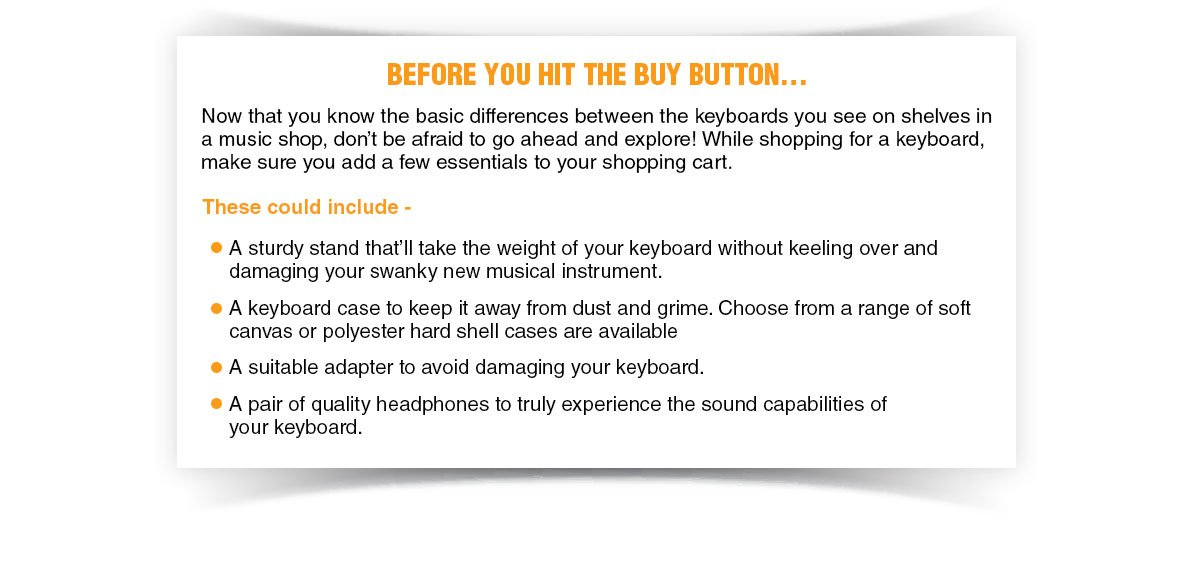 Tips before you buy a keyboard