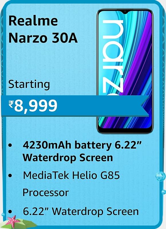 Amazon prime Day 2021 offer on Realme Narzo 30A