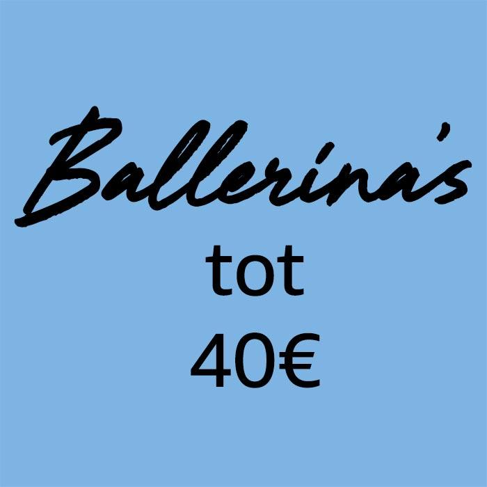 Ballerinas voor minder dan €40