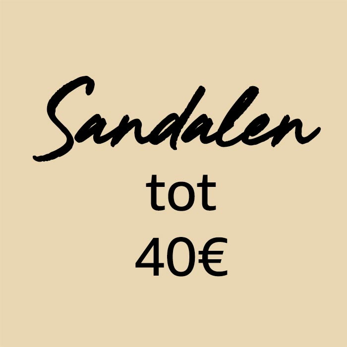 Sandalen van minder dan €40