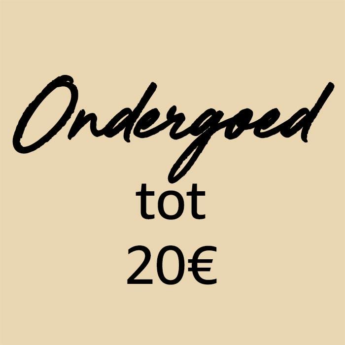 Ondergoed van minder dan €20