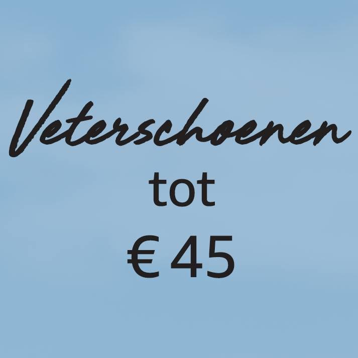 Veterschoenen tot € 45