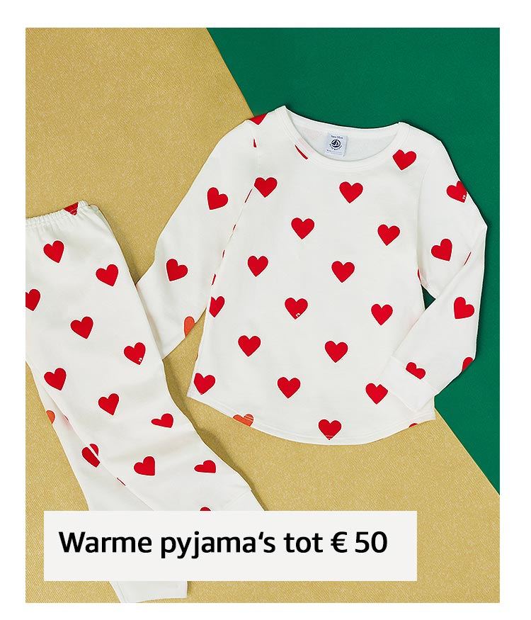 Warme pyjama's tot € 50