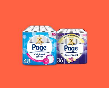 Tot 40% korting op Page toiletpapier