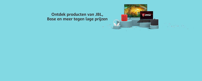 Ontdek producten van JBL, Bose en meer tegen lage prijzen