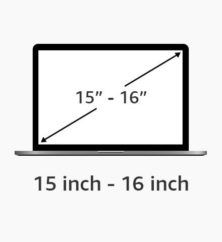 15 inch - 16 inch schermformaat
