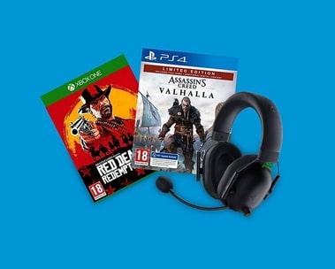 Korting op videogames en accessoires
